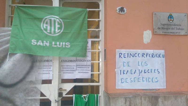 ATE San Luis realiza un paro por tiempo indeterminado por despidos en una delegaci�n nacional