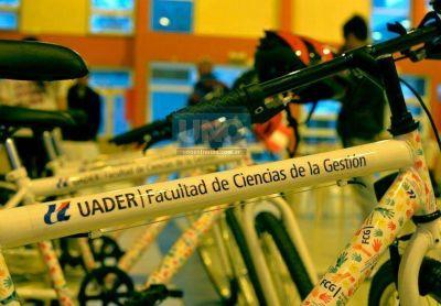 La UNER pondrá 200 bicicletas a disposición de los estudiantes