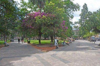 En dos meses, vecinos y turistas podrán disfrutar de una renovada plaza 9 de Julio