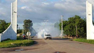 Dengue: realizan tareas de fumigación en toda la provincia