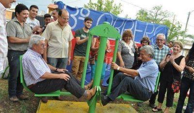 Una nueva plaza saludable se inauguró en Rawson