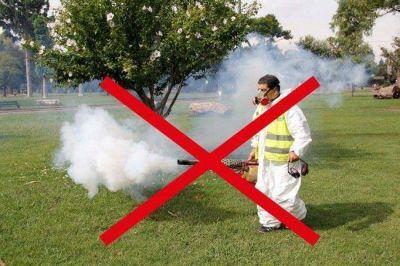 Desaconsejan fumigaciones masivas en parques y plazas