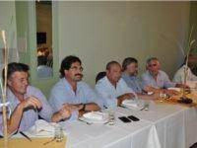 Marcelo Santillán, en el almuerzo oficial de la Fiesta del Trigo