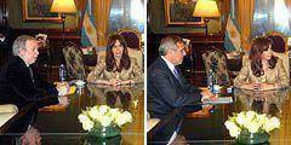 Los gobernadores Sapag y Peralta cerraron ronda de diálogo de Cristina