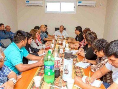 El Ministro de Trabajo se reunió con el Frente de Gremios Estatales
