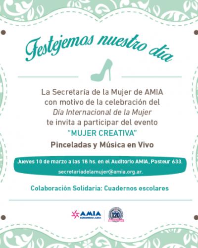 Festejo del Día de la Mujer en AMIA