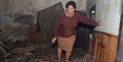 La gobernadora dispuso ayuda para familia que se le derrumbó su casa