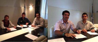 La Universidad Atlántida Argentina renovó convenios con los clubes Ever Ready e Independiente