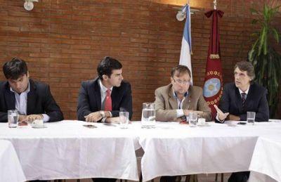 Urtubey con el bloque Justicialista de Diputados de la Nación