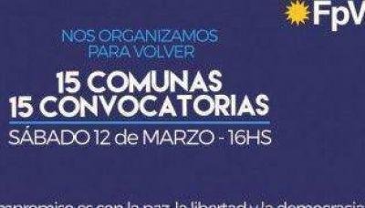 El FpV convoca a asambleas en las 15 comunas