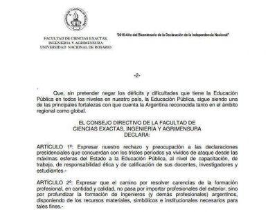 Nuevo rechazo a la idea de Macri de importar ingenieros