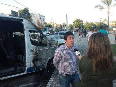 Nardini acusó al cariglinismo por incendiar una camioneta municipal