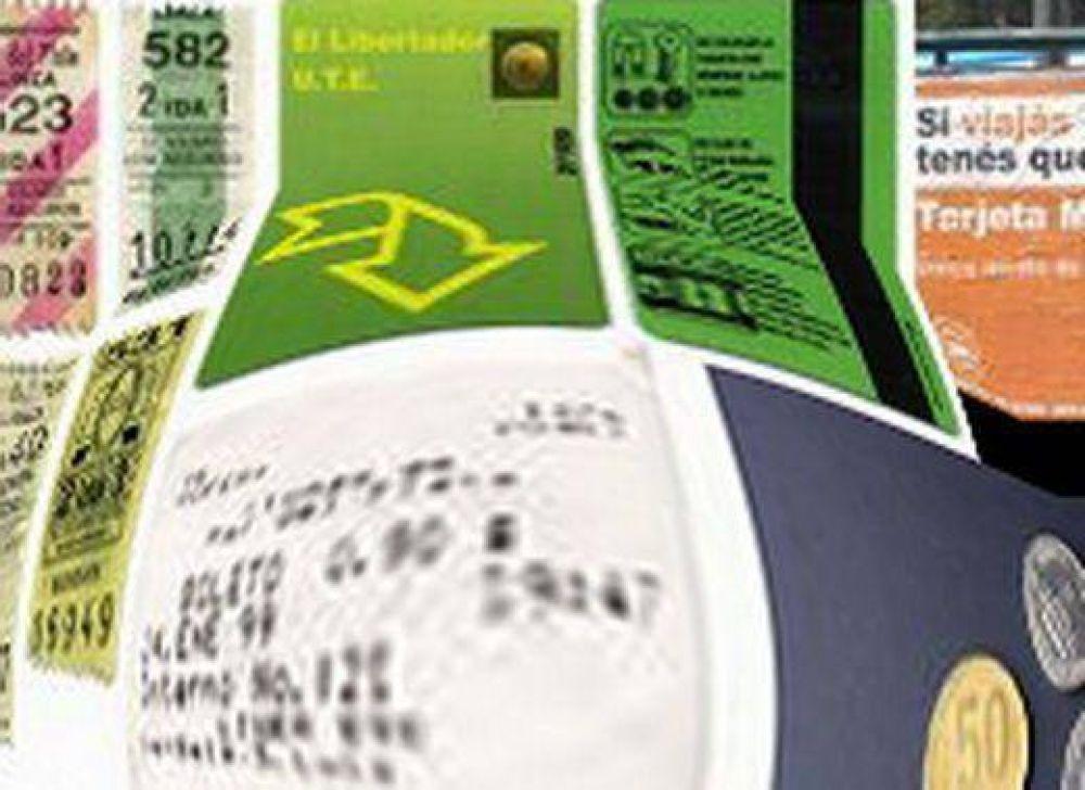 Monedas y tarjetas magnéticas para el boleto electrónico