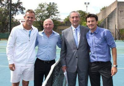 Mac Allister y Coria presentaron el programa Nuestro Tenis