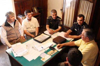 Inseguridad: Autoridades policiales y municipales se reunieron en Obrien
