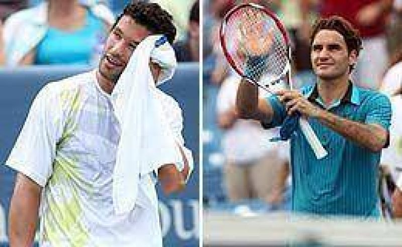 Acasuso enfrenta a Federer.