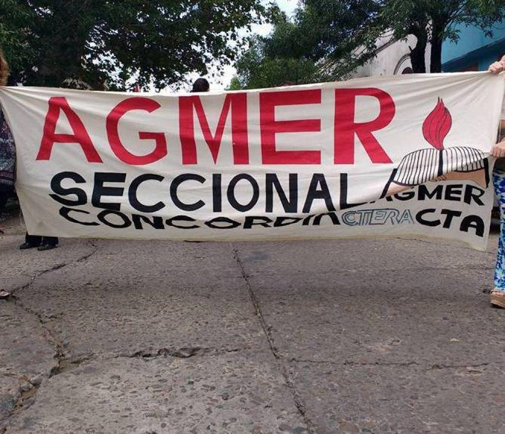 """Agmer Concordia: Aclaran que fue una """"porción minoritaria"""" la que se alejó de la Agrupación Rojo y Negro"""