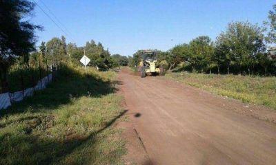 Vialidad Provincial continúa trabajando sobre la Ruta Nº 30