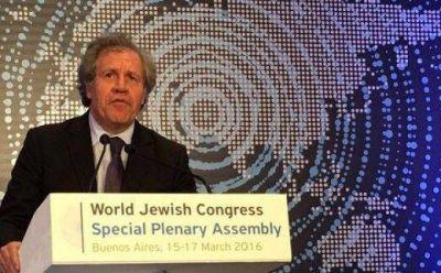 """Luis Almagro: """"La mayor parte de las comunidades judías viven en paz en América Latina"""""""