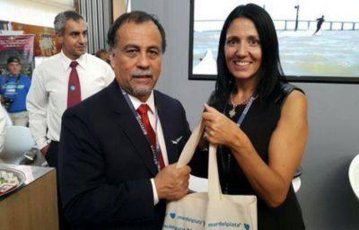 Natalia Behr, con apoyo del embajador argentino, avanzó en convenio de hermandad entre Bolivia y Mar del Plata