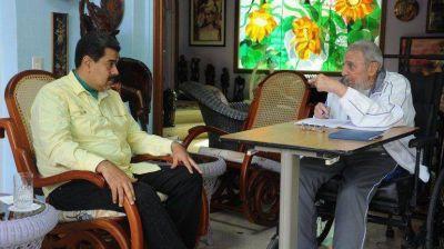 Antes de la llegada de Barack Obama a Cuba, Fidel Castro se reunió con Nicolás Maduro