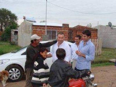 Legisladores provinciales junto al Intendente Poletti recorrieron Barrio Sur