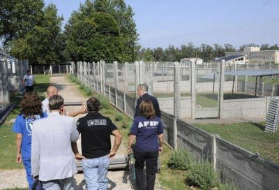 El Intendente visitó la unidad de formación de perros aduaneros