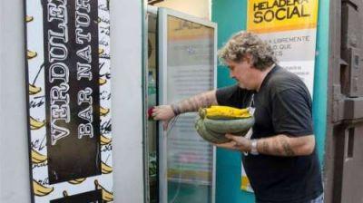Heladera Social: no hay una legislaci�n para reglamentar la donaci�n de comida