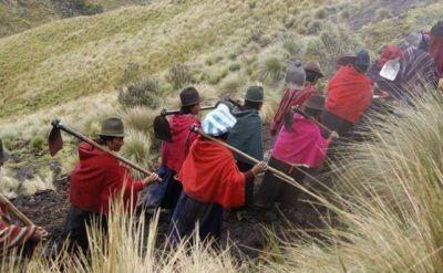 Manos Unidas construye en Ecuador el mayor sistema de riego por aspersi�n de Am�rica Latina