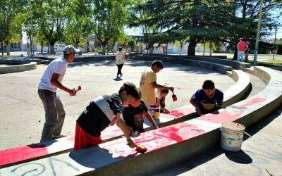 Se realizó la jornada solidaria en la Plaza Libertad