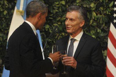 """""""Su visita es en el momento perfecto"""", le dijo Macri a Obama en la cena de honor"""