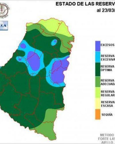 Destacan el buen estado de las reservas de agua en la provincia
