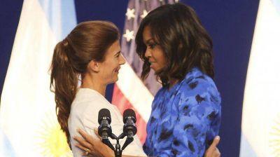 """El primer discurso """"político"""" de Awada: """"Michelle me dio consejos y me inspiró"""""""
