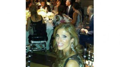 Claudia de Zamora participó de la cena de honor al presidente