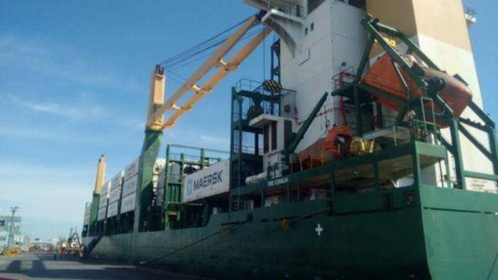 Crece el movimiento de contenedores en el puerto marplatense