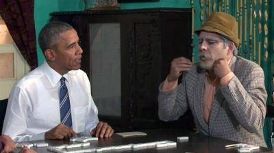 Obama aprendió a jugar al dominó en un programa humorístico de Cuba