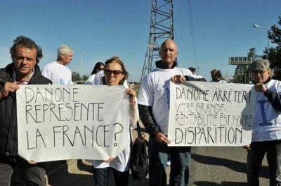 Con carteles en francés, tamberos de Tandil protestaron contra Danone