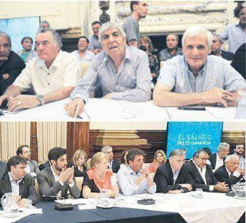 Amenaza a Gobierno in�dito acuerdo de la CGT y la oposici�n