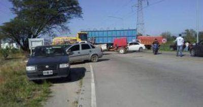 Cañeros cortaron este miércoles la rotanda de acceso sur a Concepción