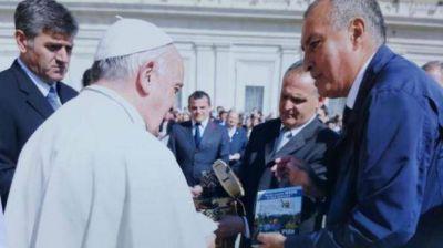 El intendente de Eldorado visitó al papa Francisco