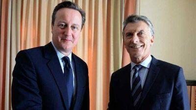 """Cameron le manifestó a Macri que """"incluirá a la cuestión Malvinas"""" en reuniones bilaterales"""