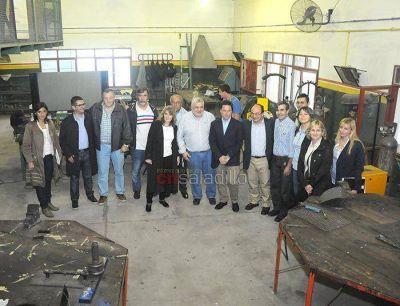 El Director del INET estuvo de visita en Saladillo