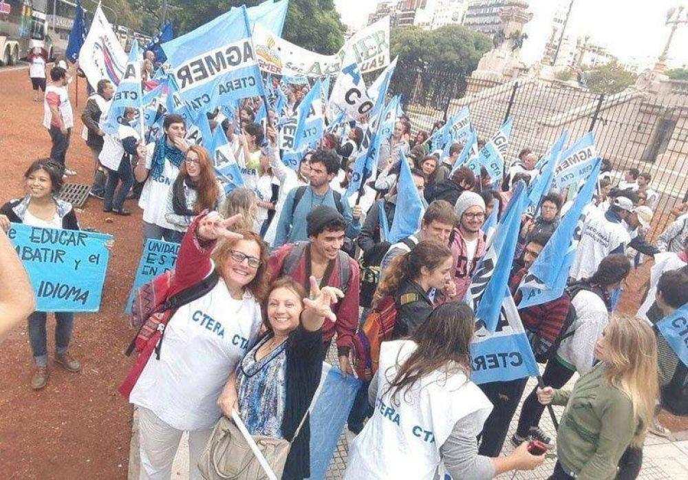Con alto acatamiento se desarrolla el paro docente de Ctera y movilización nacional