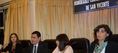 Gómez inauguró las sesiones ordinarias en San Vicente