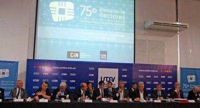 UNDAV: Ferraresi junto a 70 rectores de Universidades Públicas
