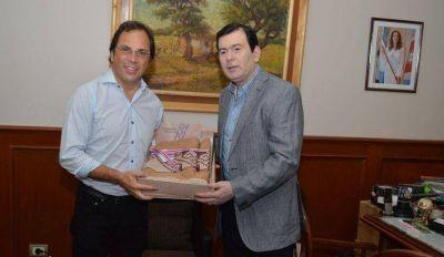 El senador Zamora recibió al diputado nacional Ing. Dario Giustozzi