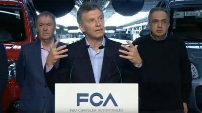 En Córdoba, Mauricio Macri anuncia una inversión de 500 millones de dólares en Fiat