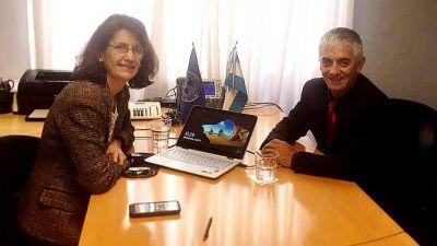 Mart�nez y representante de OPS analizaron los avances en materia sanitaria