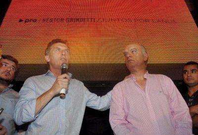 Grindetti recibió el apoyo del Presidente y de Peña
