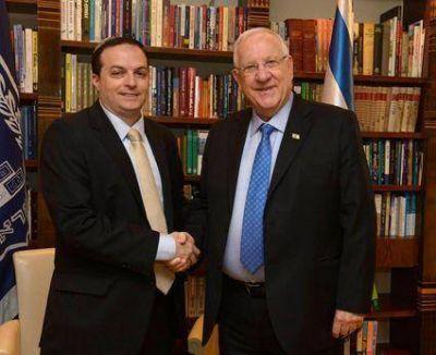 En Israel, DAIA invita al Presidente Rivlin a visitar Argentina